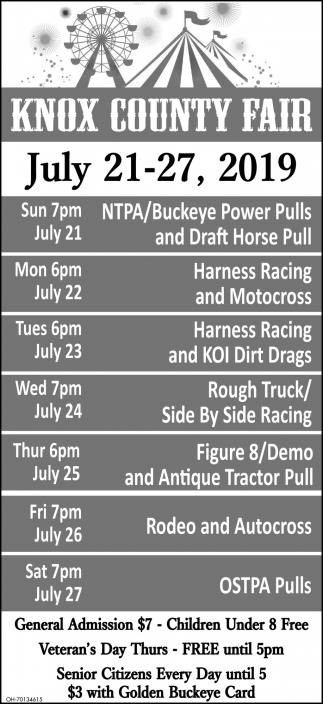 2019 Events Schedule