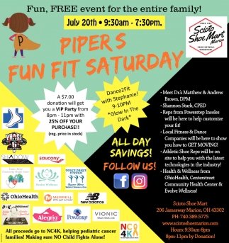 Pipers Fun Fit Saturday