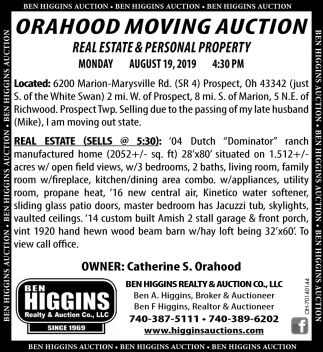 Orahood Moving Auction