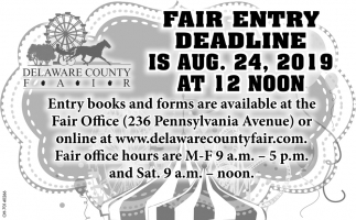 Fair Entry Deadline