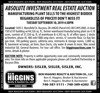 Absolute Investment Real Estate Auction