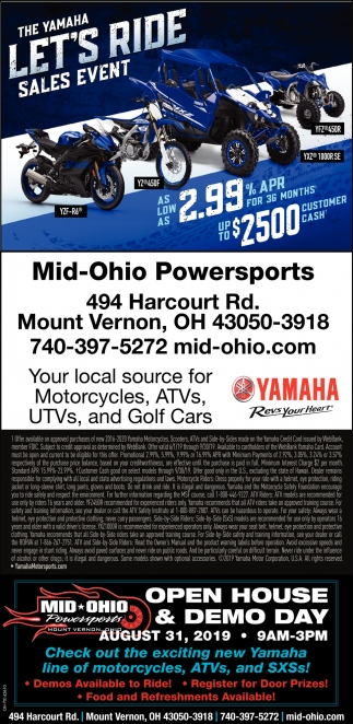 The Tamaha Let's Ride Sales Event