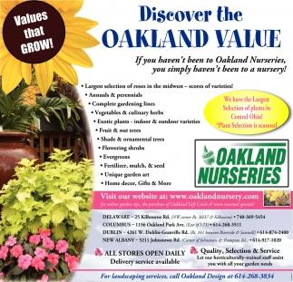 a167c0040e Discover the Oakland Value