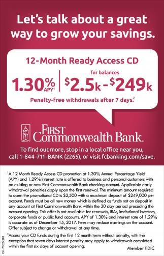12 Month Ready Access CD