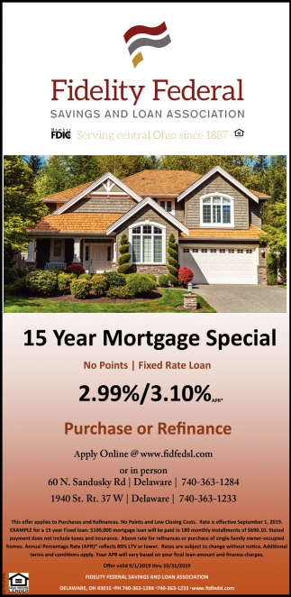 15 Year Mortgage Special