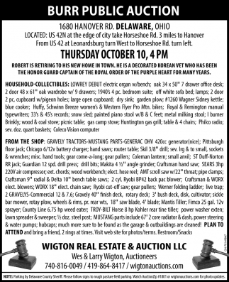 Burr Public Auction - October 10