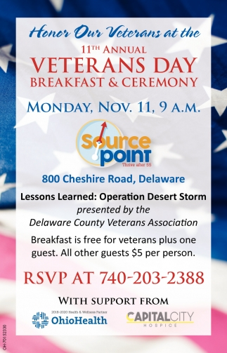 11rh Annual Veterans Day - Nov. 11