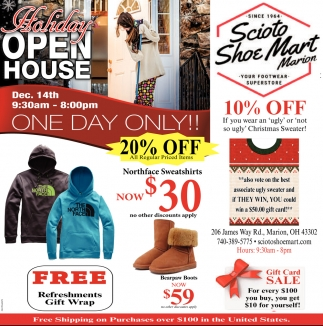 Holiday Open Sale