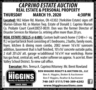 Caprino Estate Auction - March 19