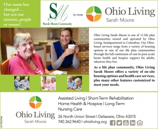 Assisted Living, Rehabilitation, Nursing Care