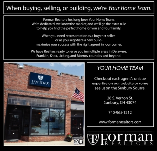 When buying, selling, or building, we're Your Home Team