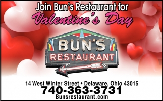 Join Bun's Restaurant for Valentine's Day