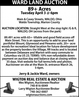 Ward Land Auction