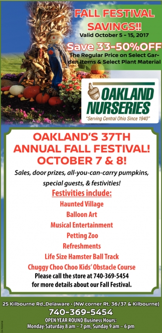 FALL FESTIVAL SAVINGS!!