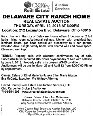Delaware City Ranch Home