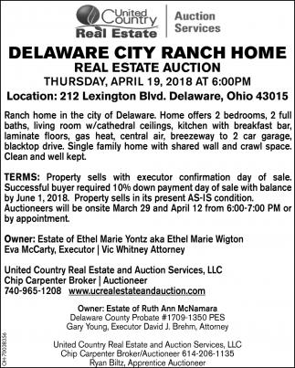 Delaware City Ranch Home