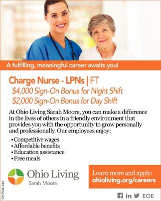 Charge Nurse Lpns Ohio Living Columbus Oh