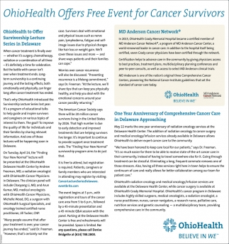 Free Event for Cancer Survivors