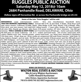 Ruggles Public Auction