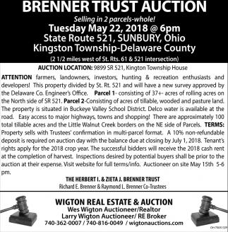 Brenner Trust Auction