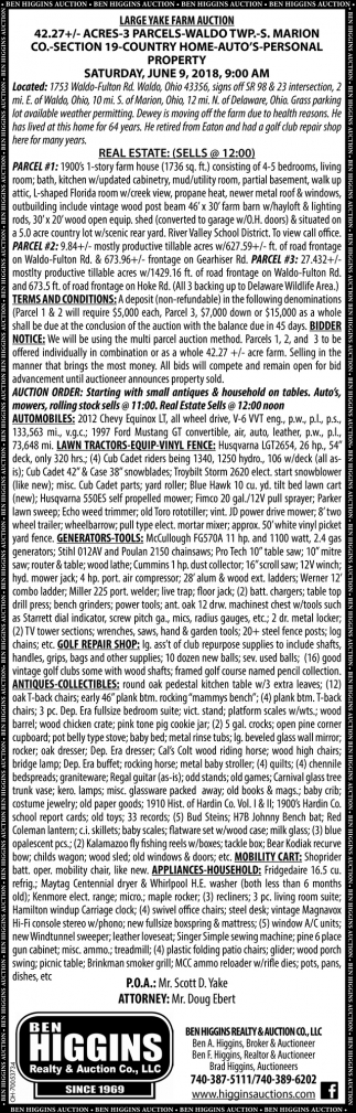 Large Yake Farm Auction
