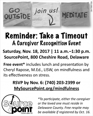 Caregiver Recognition Event