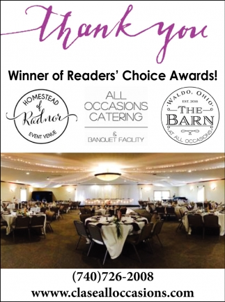 Winner of Readers' Choice Awards