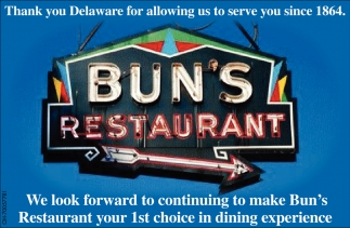 Thank you Delaware for allowing us to serve you since 1864