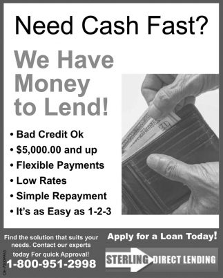 Apply for a Loan Today!