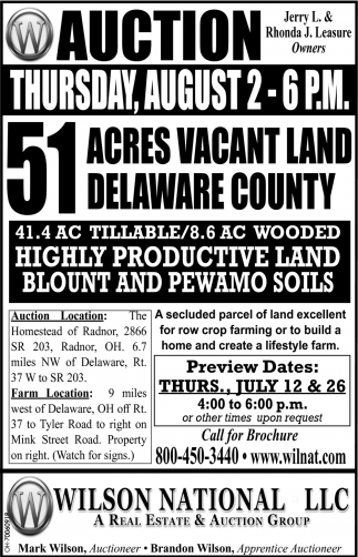 51 acres vacant land, Delaware County