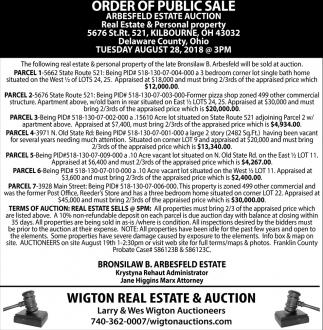 Order of Public Sale