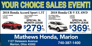 Your Choice Sales Event
