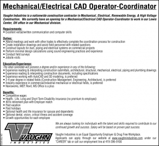 Mechanical/Electrical CAS Operator Coordinator