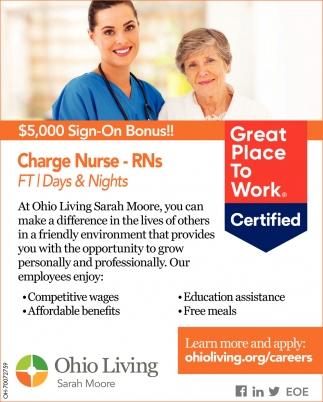 Charge Nurse - RNs