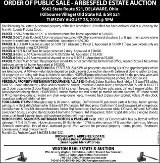 Arbesfeld Estate Auction