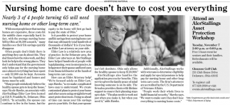 Nursing home care doesn't have to cost your everything