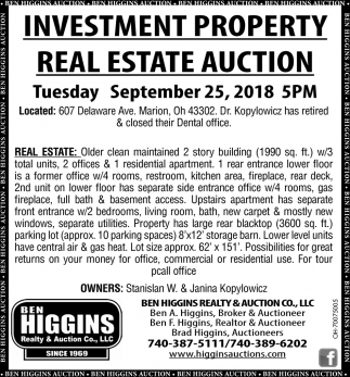 Investment Property Real Estate Auction