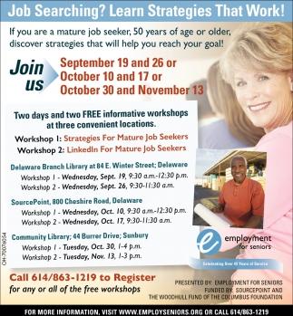 Free informative workshops
