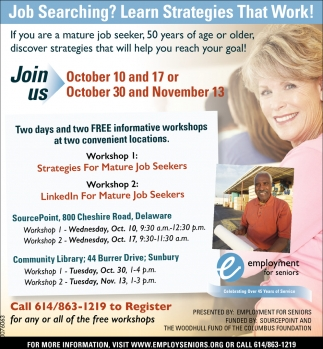 Free informative workshops