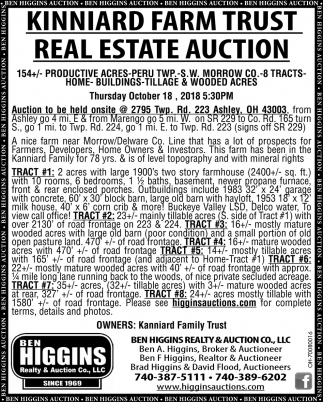 Kinniard Farm Trust Real Estate Auction