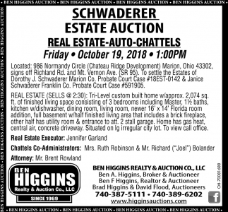 Schwaderer Estate Auction