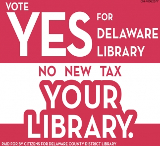 Vote Yes for Delaware Library