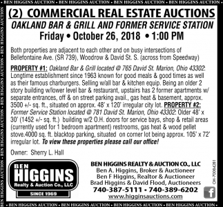 2 Commercial Real Estate Auctions