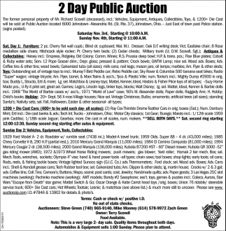 2 Day Public Auction