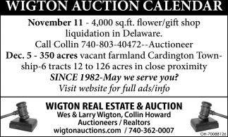Wigton Auction Calendar