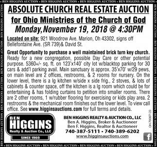 Absolute Church Real Estate Auction
