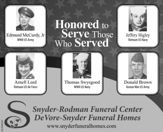 Honored to Serve Those Who Served