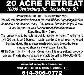 20 Acre Retreat
