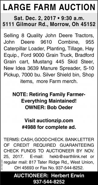 Large Farm Auction