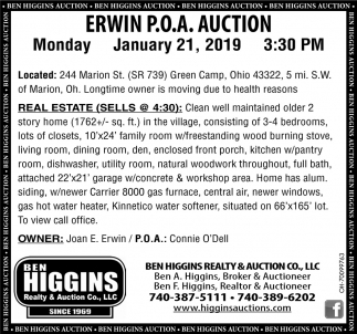 Erwin P.O.A. Auction